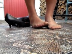 Foot Fetish Stockings Nylons Outdoor