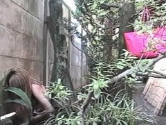 Japanese outdoor masturbating