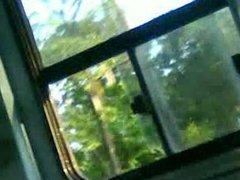 masturbandome en el bus