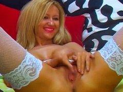 Russian big boobed girl enjoys herself