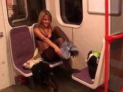 Striptease in subway