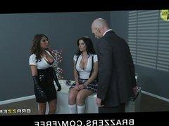 Brazzers - Madison Ivy & Rebeca Linares start threesome