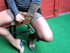 Footjob Cumshots Stockings Nylons X14