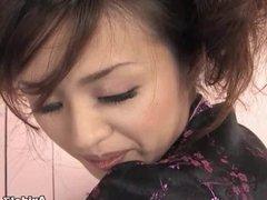 Sexy girl Ami Matsuda receiving pussy pleasures