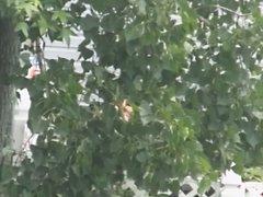 Spying on a Striped Bikini MILF