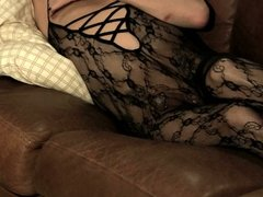 Playing in a body stocking...