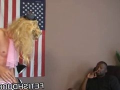 Ebony stud Hot Boi humiliating a hot DILF