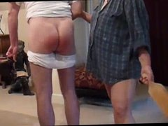 man spanked in his wet panties