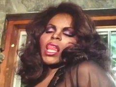 Vintage ebony tgirl drills chick
