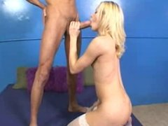 Blonde Teen love monster cock