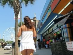 Trina showing it on the strip at the beach