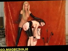 Latex freak gets tormented hard