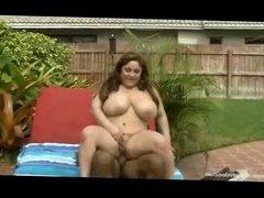 Chubby Big Tit Teen In Bikini Oils Huge Black Cock