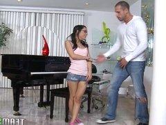 ExxxtraSmall Petite latina teen Tia Cyrus tight pussy hardco