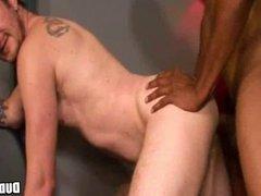 Interracial gay anal sex