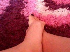 Cum on Kasia sock and feet