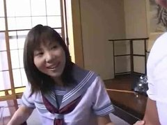 Sweet Japanese Schoolgirl Gets Her Tight Pussy Filled !