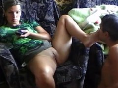 Worshiping wife's cunt