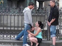 Group sex - group in the middle of the city PART 2