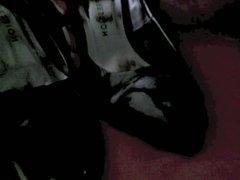 Cumming on Black Heels