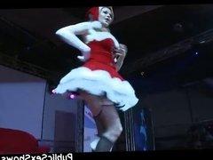 Mrs Santa Claus stripper getting nasty