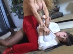 Summer Cummings Catfight Lesbian Strap On Action