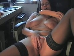 Swedish girl - big dildo
