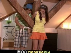 Tied up GF gets used by her BF's mom