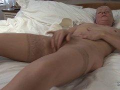 Mature slut grandma dreaming of young hard cock