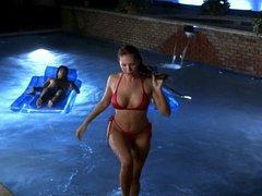 Nikki Cox - Big Tits in red Bikini