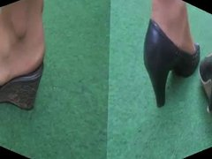Feet Show Stockings Heels Pumps Foot Fetish X30