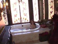 Teen and Cougar Share a Lesbian Bath By TROC