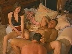 Couples invites extra man to enjoy him