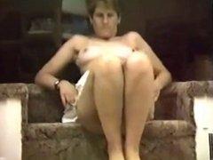 Hairy pussy milf spread legs wide open outdoor