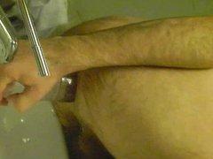 water bottle in ass (male)