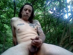 My slut-boy in the woods