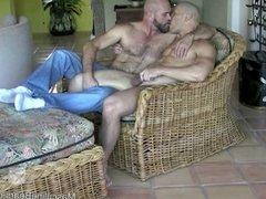 Horny couple of beefy bears fucking