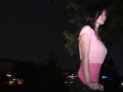 A gorgeous babe in a public dogging adventure PART 1