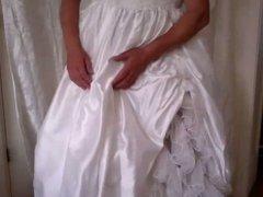 crossdress bride fun with black dildo