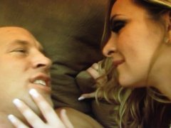 Female Feeds Male His Cum into His Mouth