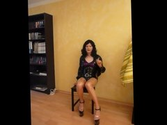 German Latex Tranny Kittie Smoking And Dirty talk