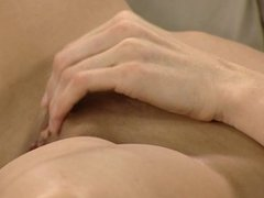 Girl take lesson of masturbation