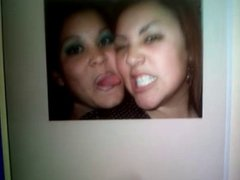 Cumshot Tribute to lesbian sluts Raquel & Veronika