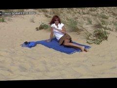 amateur teen at beach