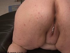 Short Fat Mature BBW Gets Ass Fucked While On Her Period