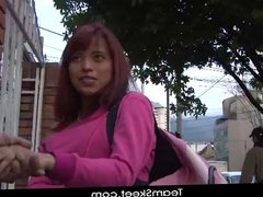 OyeLoca Red hair latina Crystal Salzedo shaved pussy fucked