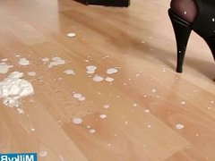 Hot babe Paris gets messy with whip cream