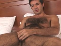 Hairy Stud With Nice Cock Cums in The Hands of His Friend