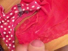 Cumming on roomate's panties