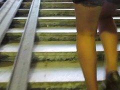 Upskirt Stockings with garter belt